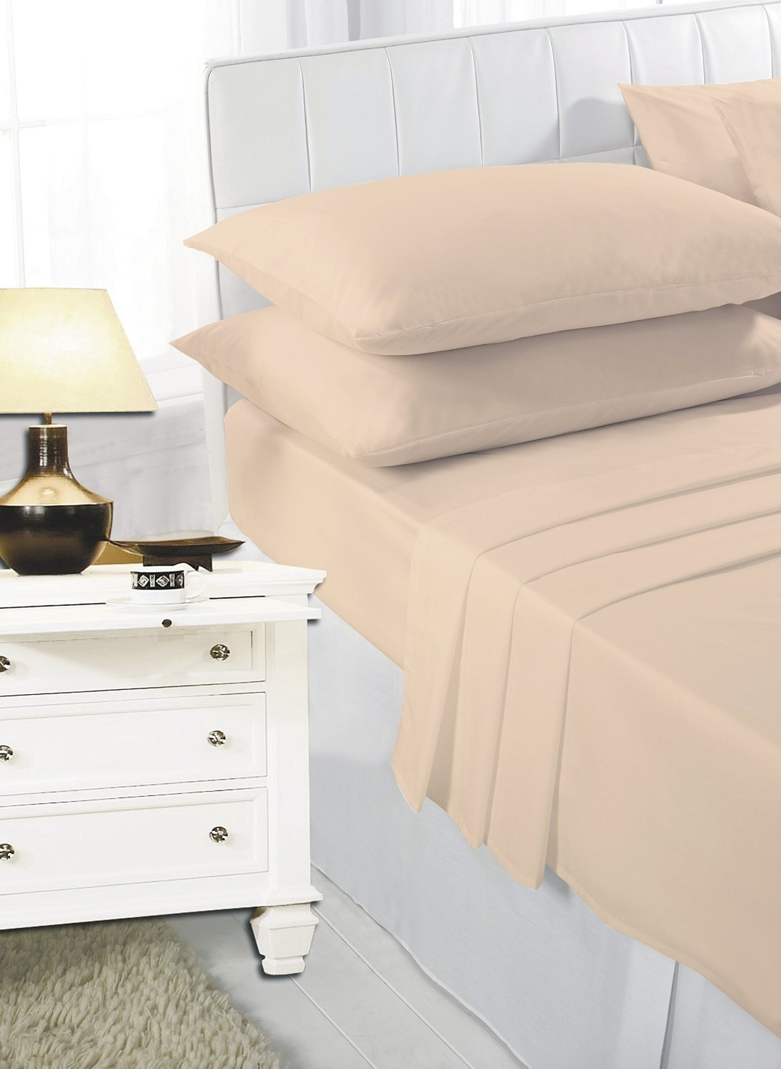 """40 cm//1 inch/""""FITTED SHEETS PERCALE SINGLE 4ft SMALL DOUBLE KING SUPER KING SIZE"""