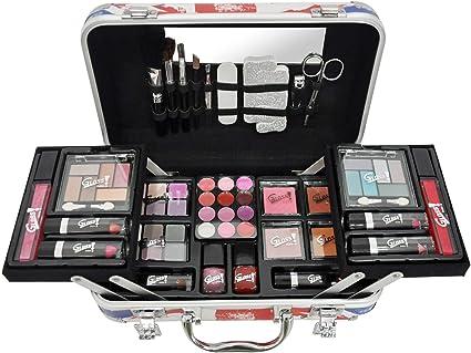 Gloss - caja de maquillaje, caja de regalo para mujeres - Caso Maquillaje - Moda de Londres - 62 piezas: Amazon.es: Belleza