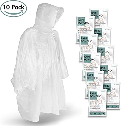 Lot of 25 rain poncho emergency rain coat one size fits all US seller