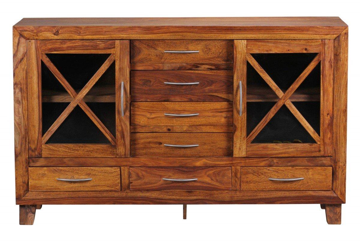 Wohnling WL1.353 Sheesham Sideboard Massiv 150 x 45 x 90 cm Massivholz