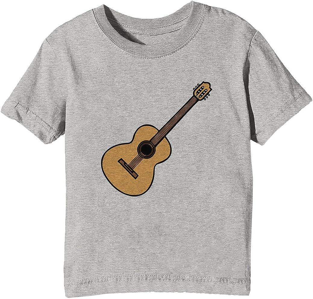 Acústico Guitarra Niños Unisexo Niño Niña Camiseta Cuello Redondo ...
