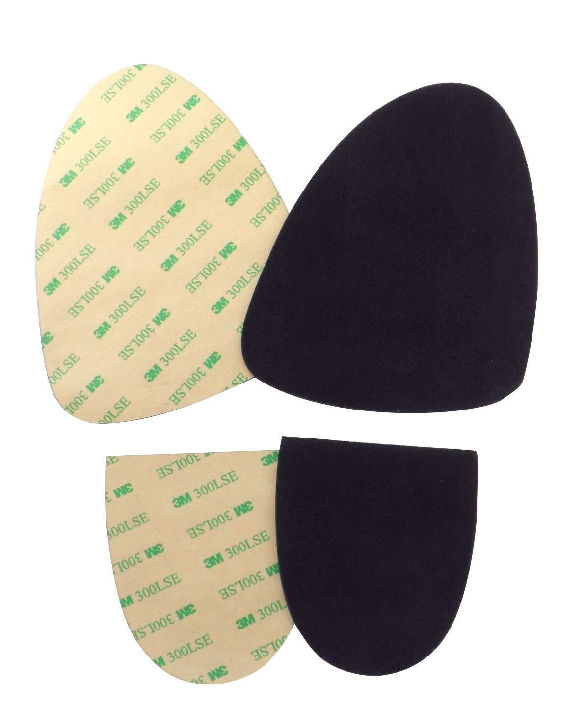 Stick-on Suede Soles with Industrial-Strength Adhesive Backing. Resole Old Dance Shoes or Turn Sneakers into Perfect Dance Shoes. [Suede-M-Black-Sport-r2] by Soles2dance