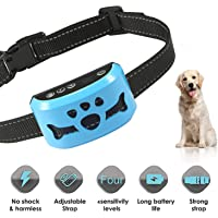 AHJDL Bark Collar Upgrade Version No Bark Collar Rechargeable Anti bark Collar with Beep…