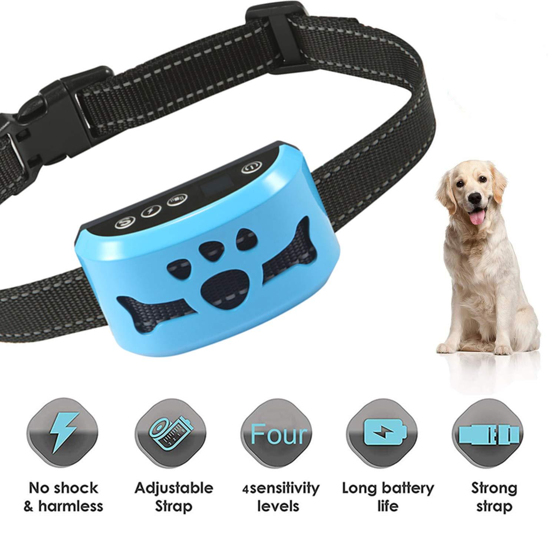 AHJDL Bark Collar Newest Upgrade Version No Bark Collar Rechargeable Anti bark Collar with Beep Vibration and No Harm Shock Smart Detection Module Bark Collar for Small Medium Large Dog by AHJDL