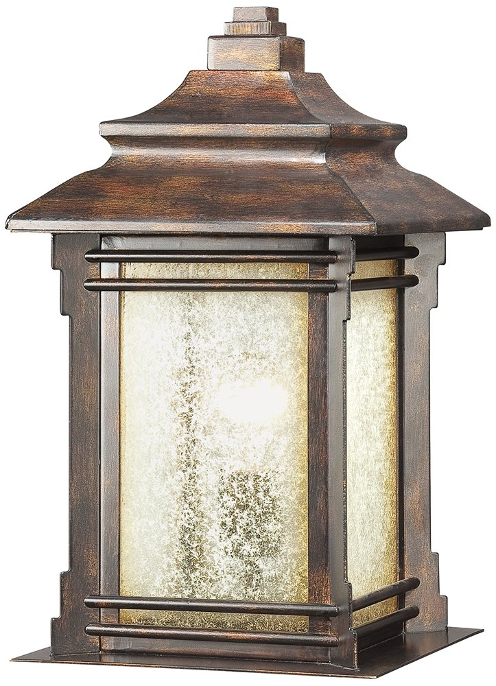 Hickory point 16 12 pier mount light in walnut bronze outdoor hickory point 16 12 pier mount light in walnut bronze outdoor post lights amazon aloadofball Images