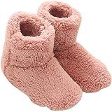 Mianshe 冬 北欧ルームシューズ ルームブーツ 暖かい もこもこ 可愛い 靴下 来客用 男女兼用 (Mサイズ 24cmくらいまで, ピンク)