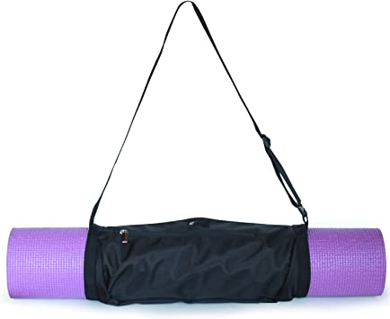 Aurorae Yoga Mat Bag | Mat Sling Carrier | Large Outside Zip Closure Pocket
