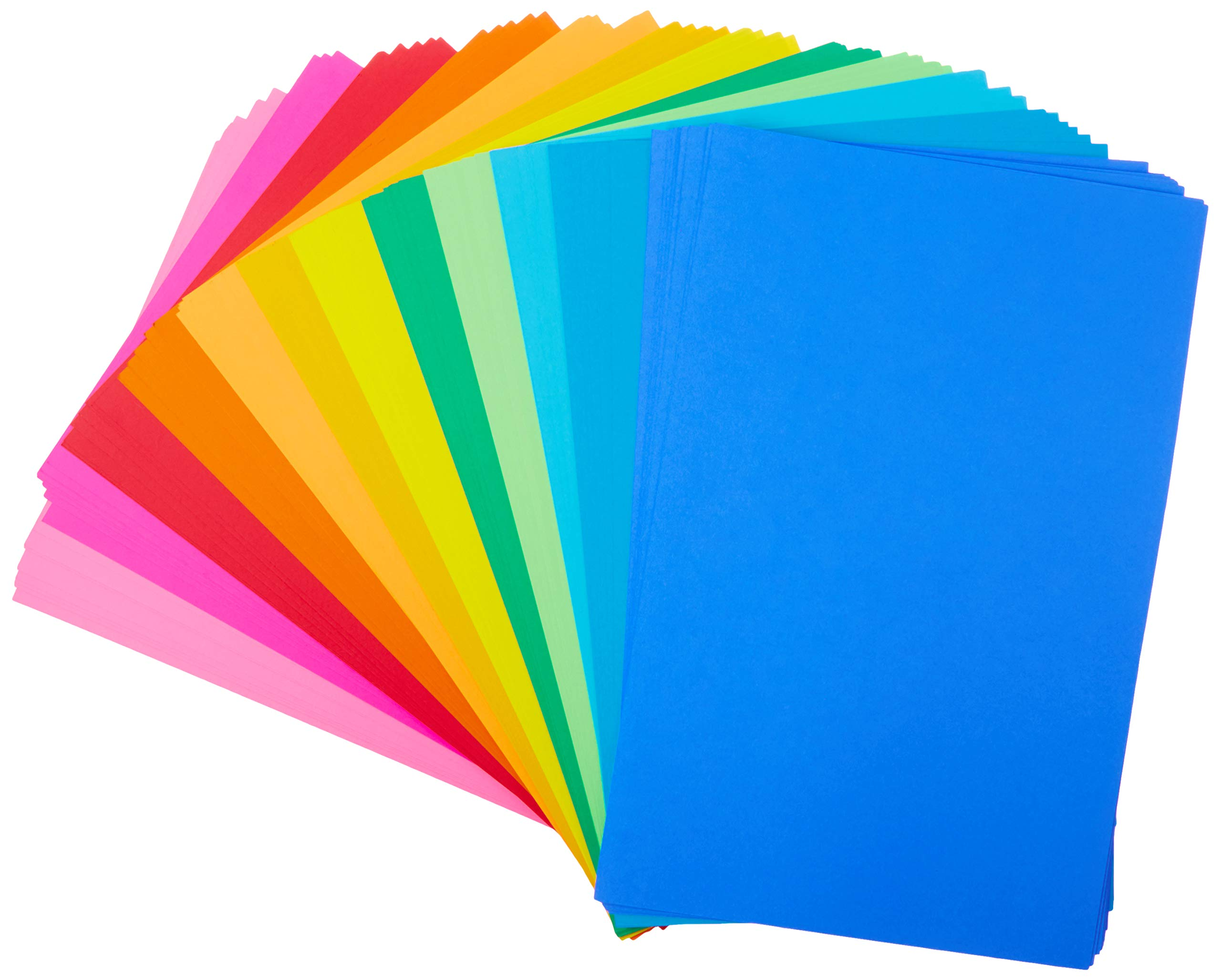 Hygloss Products Bright Tag, 11'' x 17'', 12 Assorted Colors, 96 Sheets