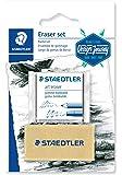 Staedtler Moldable Kneaded Eraser Plus Art Gum Block Eraser Art Combo, 2 Pack, 5427SBK2-C
