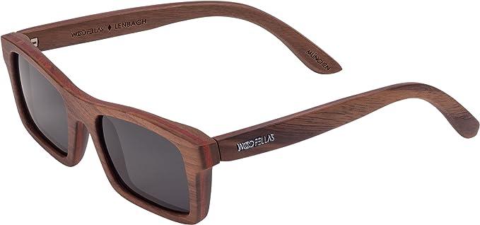 Wood Fellas Unisex Holz-Sonnenbrille Lenbach Braun One 4coCcDE