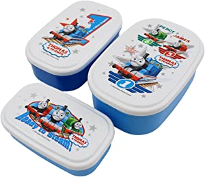 3 Different Thomas the Tank Engine and Friends Lunch (Bento) Boxes (Japan Import)