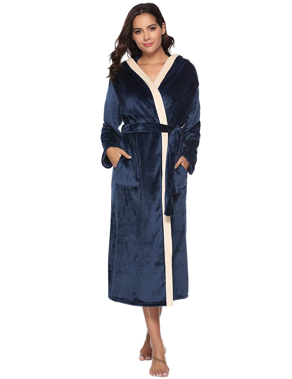ee9d86c4e2d Aibrou Unisex Calientes Albornoz Invierno Batas Kimono Baño para Hombre y  Mujer
