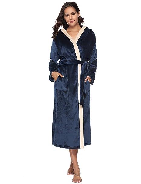 d591c1fd Aibrou Unisex Calientes Albornoz Invierno Batas Kimono Baño para Hombre y  Mujer, Suave Comodo y Agradable: Amazon.es: Ropa y accesorios