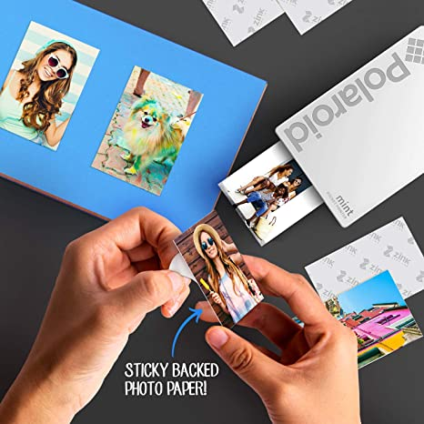 Polaroid Mint Wireless Mobile Photo Mini Printer (White) Compatible W/iOS & Android, Bluetooth Devices
