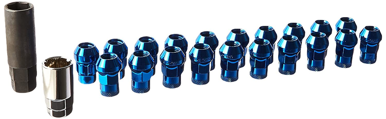 Muteki 32925R SR Series Chrome Red 12mm x 1.25mm SR35 Open End Lug Nut Set, Set of 20