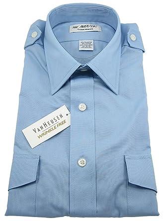 c58b22dc225 Van Heusen Tall Aviator Shirt - Men s Short Sleeve - Blue at Amazon ...