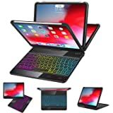 iPad Pro 11 Case with Keyboard 2018-360 Rotatable - Wireless/BT - Backlit 17 Color - Auto Sleep Wake - iPad Pro 11…