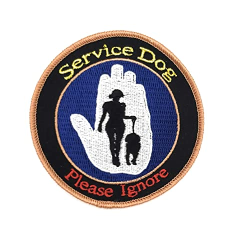 Parche de servicio para perros. Certificado de servicio perro no ...