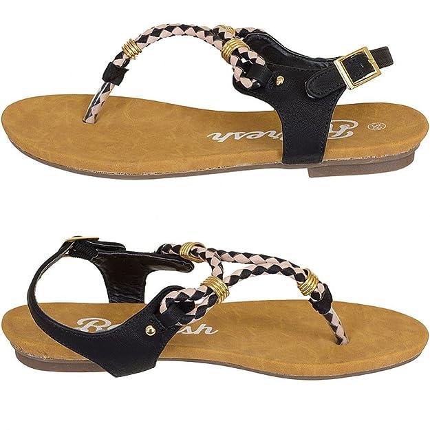 Refresh Women Flip Flops Sandals Zehentrenner, Größe:36;Farbe:schwarz:  Amazon.de: Schuhe & Handtaschen