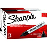 Sharpie King Size Permanent Markers, Chisel Tip Markers for Work and Industrial Use, 12 Count
