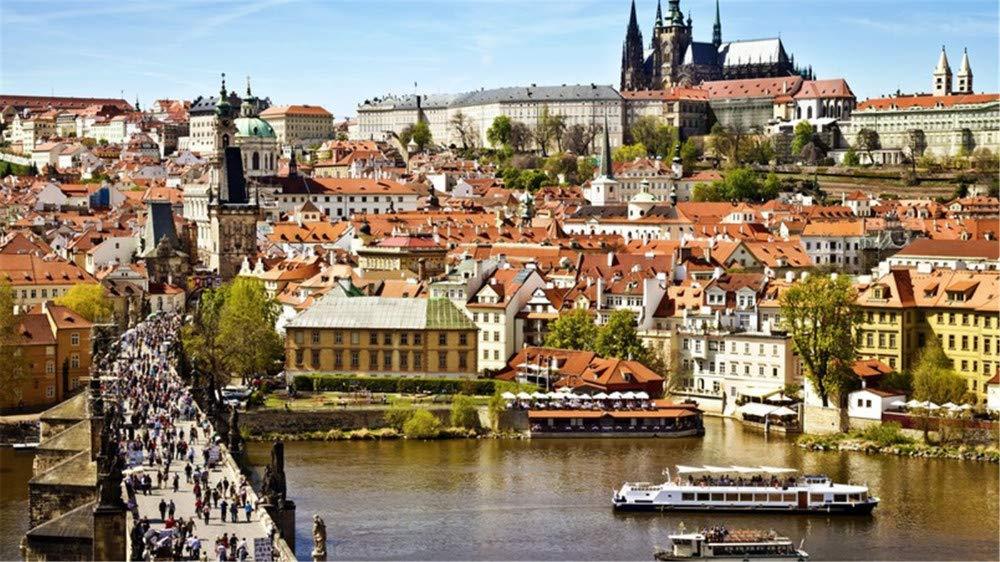 HCYEFG DIY Spiel Puzzle Prag-Stadtansicht Fluss_Bridge Puzzle 1000Piece Puzzles Spielzeug Für Kinder Erwachsene Spielzeug Puzzles Geschenk f8e60a