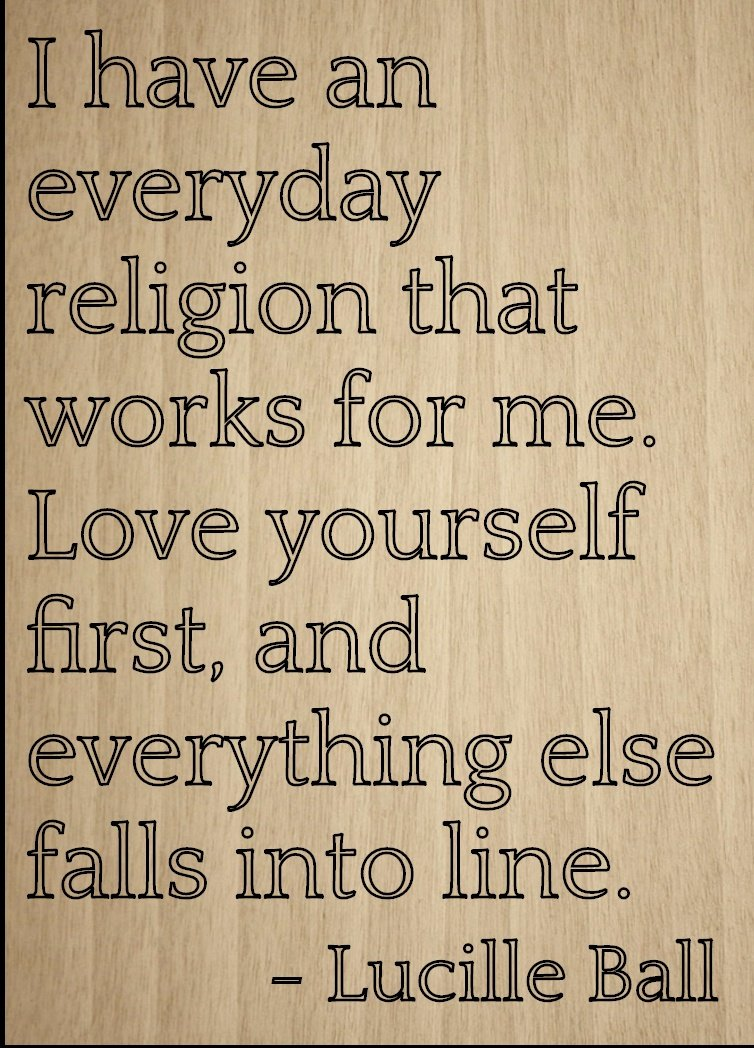 ''I have an everyday religion that works...'' quote by Lucille Ball, laser engraved on wooden plaque - Size: 8''x10''