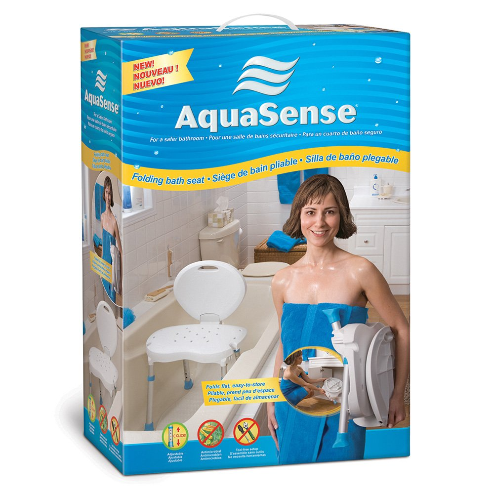 Amazon.com: AquaSense Folding Bath and Shower Seat with Non-Slip ...