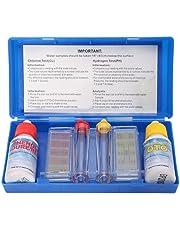 lzndeal Kit Teste d'eau Piscine - Trousse d'analyse d'eau Piscine - Test Kit Chlore pH Testeur - Kit d'Accessoires Piscine - Set PH Chlore Kit de Test de Qualité de l'eau Hydrotool