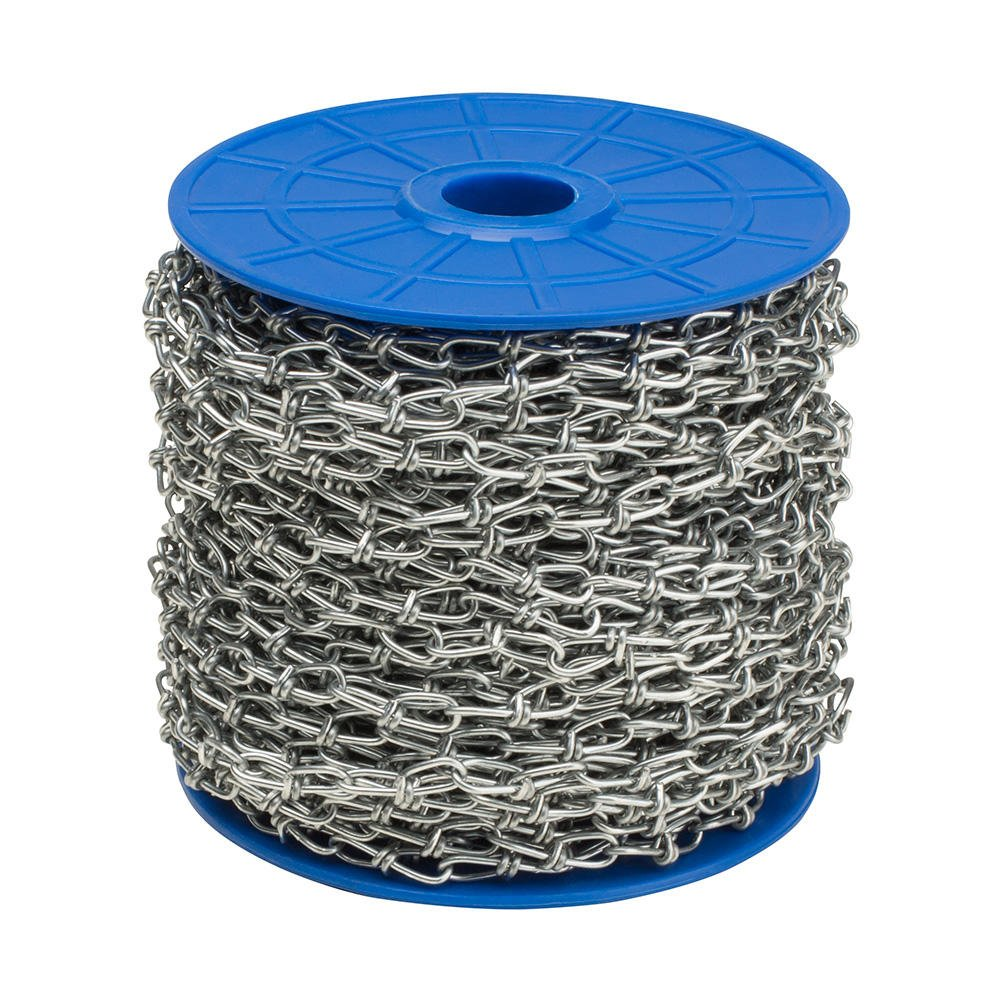 Knotted Chain 30 Metre Roll Long Steel Chain