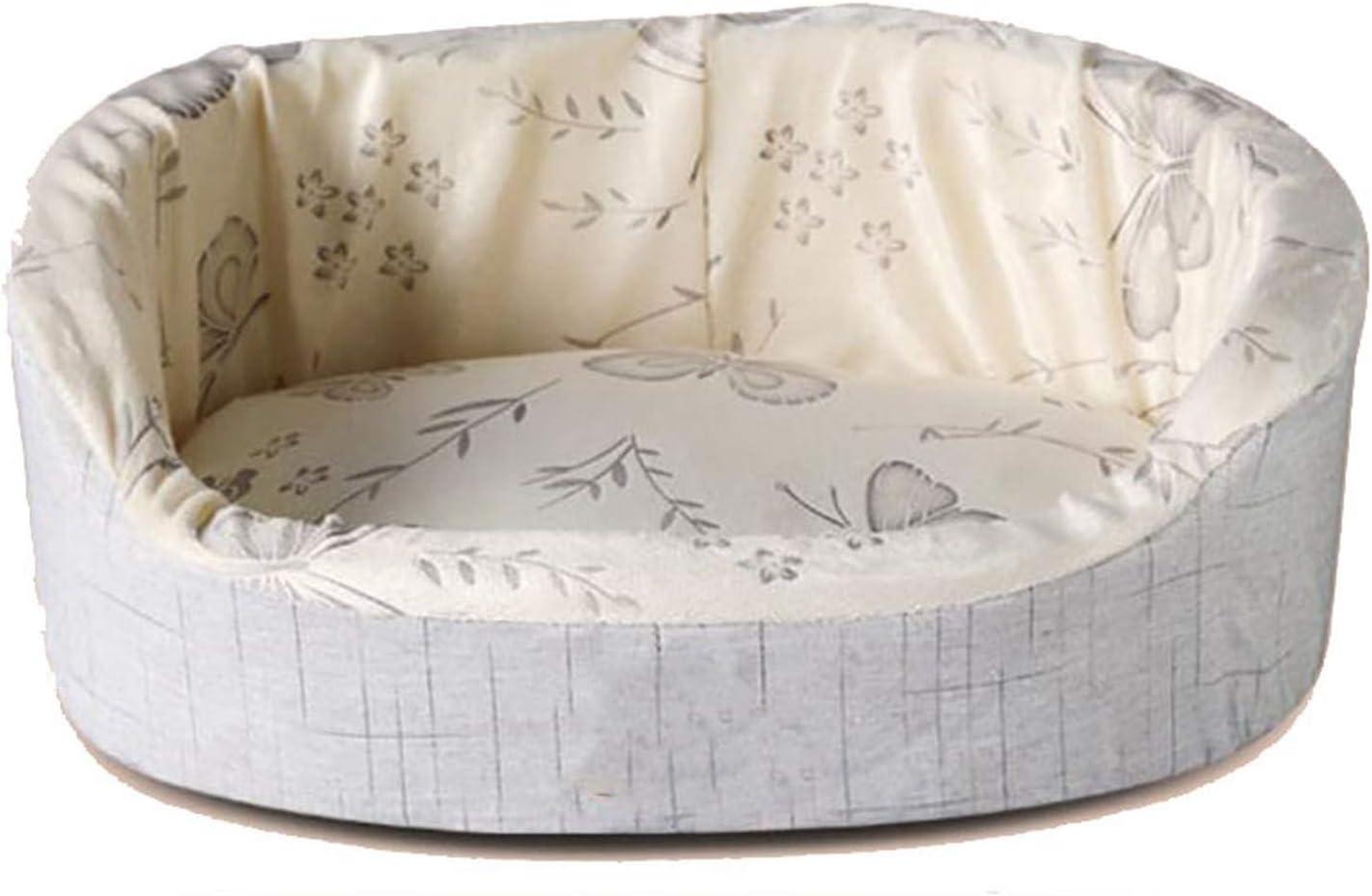 Old street Fashion Washable Oval Pet Dog Cat Bed Super Soft Dog Mat Sponge Cotton Summer Cooling Kennel