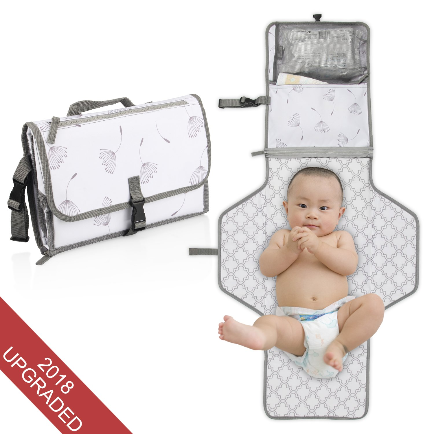Portable Diaper Changing Pad-Stars Wish Diaper Cluth with Cushioned Baby Changed Pad Kit to Travel with Waterproof and Flodable , infant Changing Diaper on the Mat for Newborn and Toddler