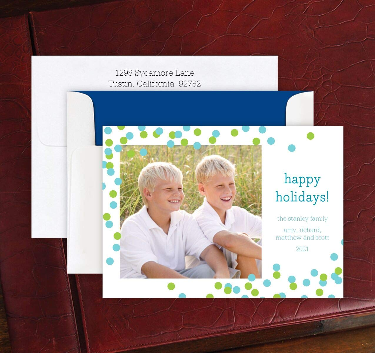 Personalized Christmas Confetti Photocard - Set of 48-2891