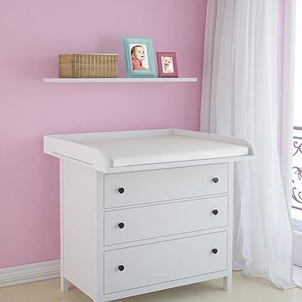Infantastic – Bandeja de cambiador para bebés aprox. 90/77,5/12,5 cm – disponible en color blanco