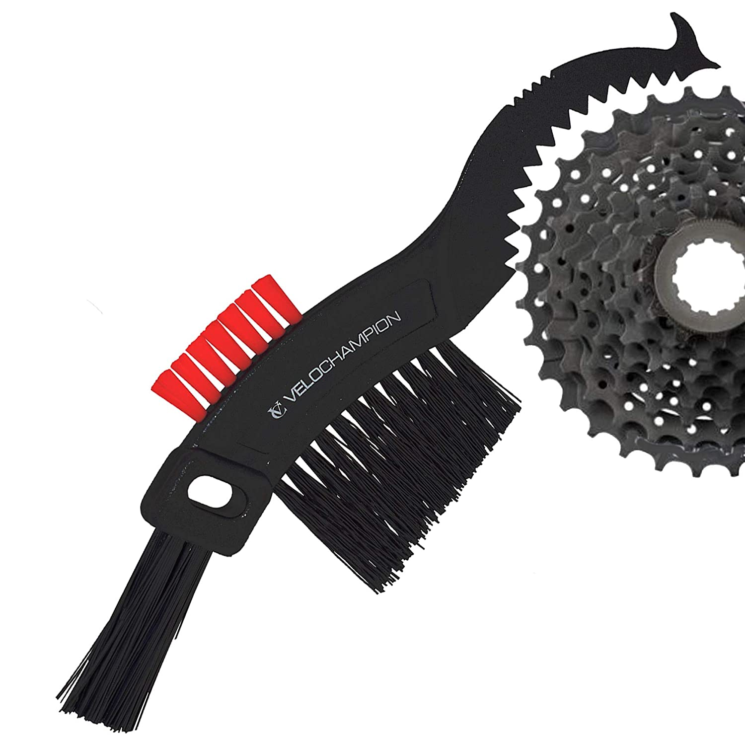 VeloChampion Road Bike Bicycle MTB Hybird Easy Compact Cleaning 5 Multi Head degreaser Scrubber Maintenance Thistle Brush Maxgear Ltd