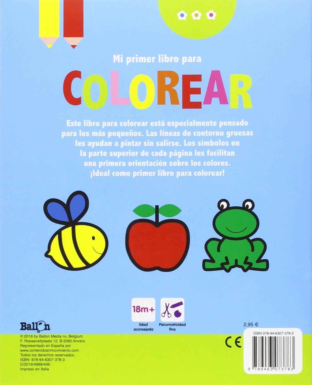 Mariquita. Mi Primer Libro Para Colorear: Amazon.es: Ballon, Teresa ...