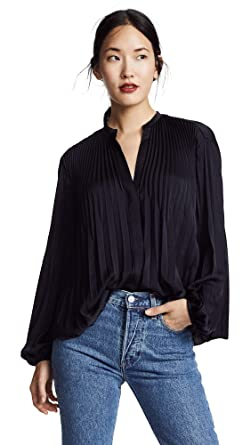 f8f1bdd7b6be7 Amazon.com  Vince Women s Chevron Pleated Blouse  Clothing