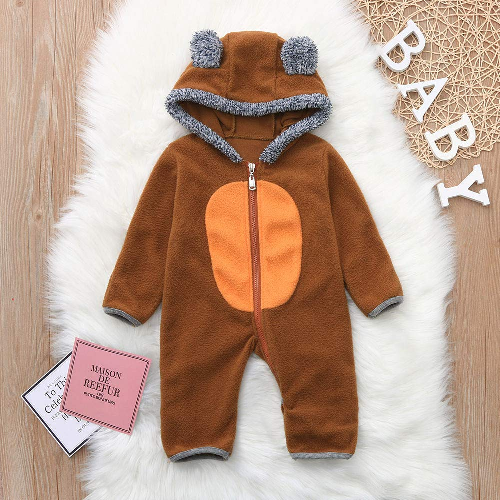Alixyz Fleece Baby Bunting Onesie Jacket Infant Pajamas Winter Outerwear Coat Costume