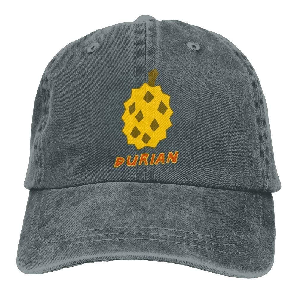 JTRVW Cowboy Hats Durian Juice Denim Hat Adjustable Women Plain Baseball Hats