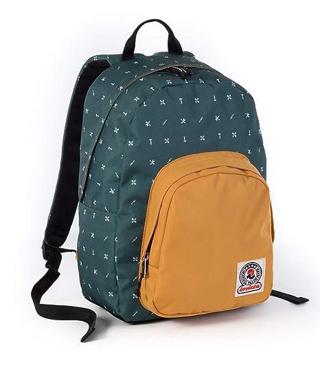 a79dfe090e ZAINO INVICTA - OLLIE PACK II - Verde Giallo fantasia - tasca porta pc  padded -