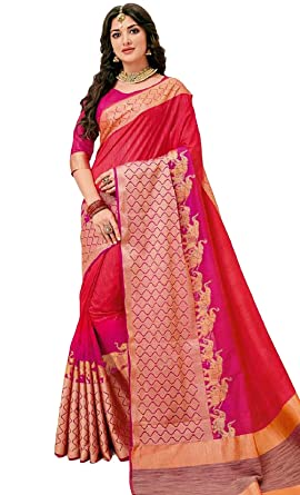 244acd9579a5b5 Image Unavailable. Image not available for. Colour  Rajguru Raw Silk Saree  With Blouse Piece ...