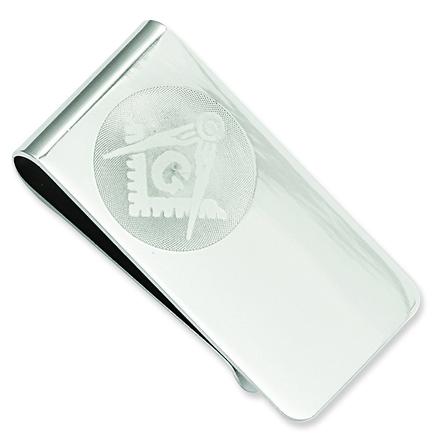 Kelly Waters Rhodium-Plated Masonic Money Clip