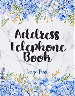 social media work and mobile numbers Address Book: Alphabetical Organizer With Birthday And Address Book with contacts email and notes with purple tulip floral cover addresses