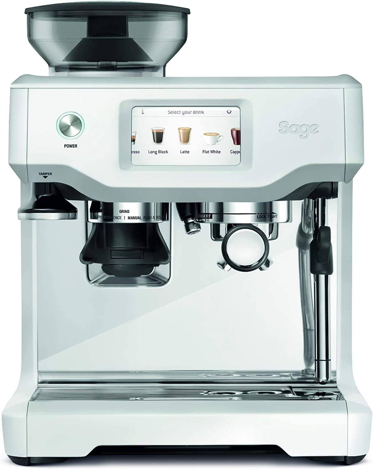 Sage Appliances SES880 - Cafetera espresso, color blanco: Amazon ...
