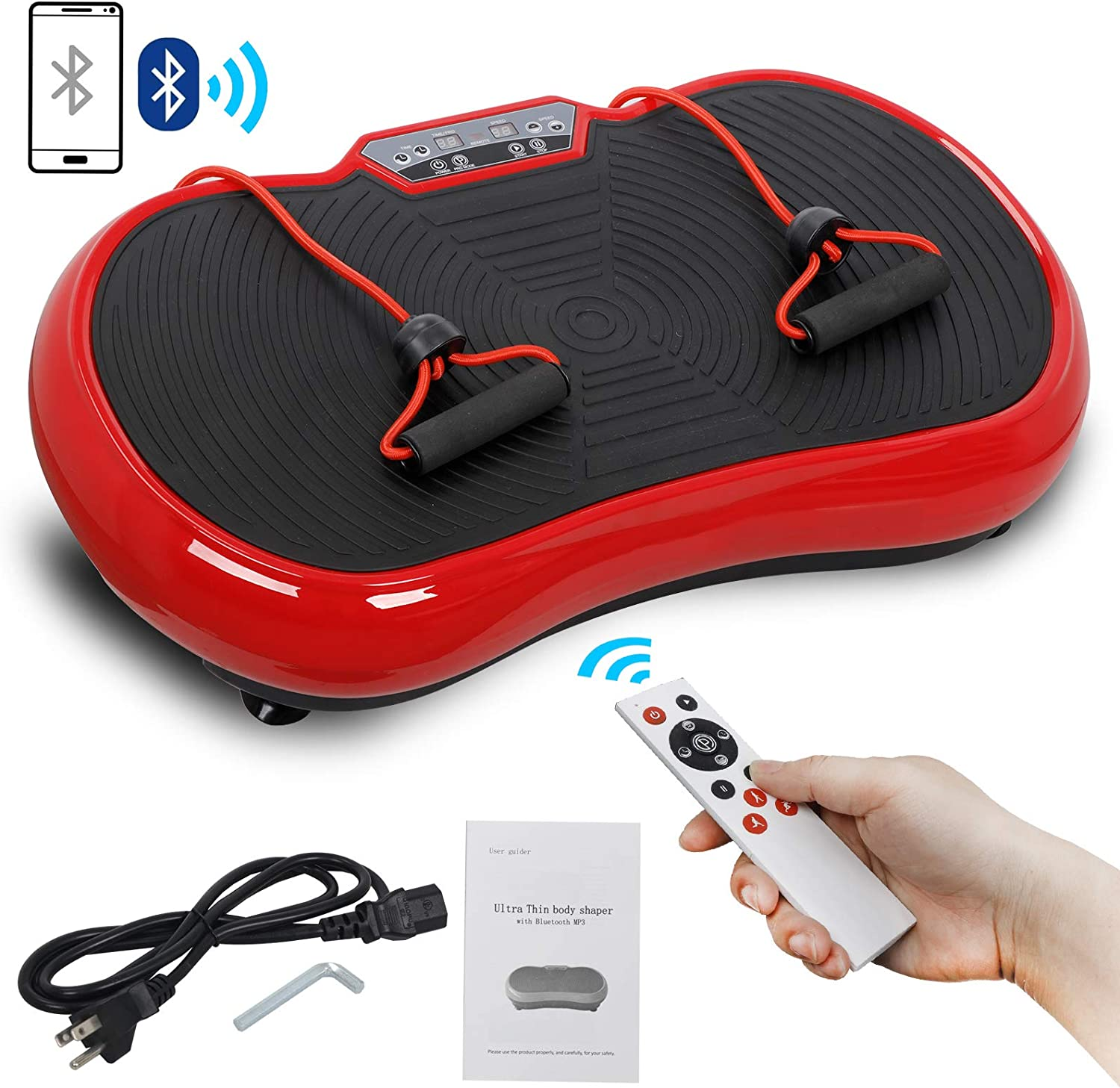 Whole Body Workout Vibration Fitness Platform Fit Massage Workout Trainer with Bluetooth Remote 99 Levels KAB Ship from US-Pro Vibration Plate Exercise Machine