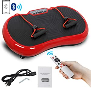 Saturnpower Full Body Vibration Platform Massage Machine Fitness Shaking Machine Workout Whole Body Trainer Vibration Weight Loss Equipment Vibration Fat Reducer with Bluetooth Connection Red