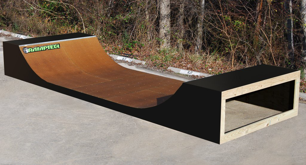 Ramptech 3 Tall x 8 Wide Outdoor Halfpipe
