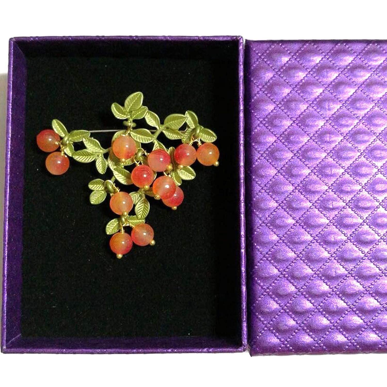 ChicLadies Vintage Brooch Jewelry Green Bake Paint Dyeing Mixed Orange Rhinestone Brooch Scarves Buckle Accessories
