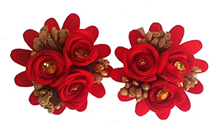 a9b86d66e Image Unavailable. Image not available for. Colour: Shineconfidence Look  Like Natural Rose Flower Hair Pins ...