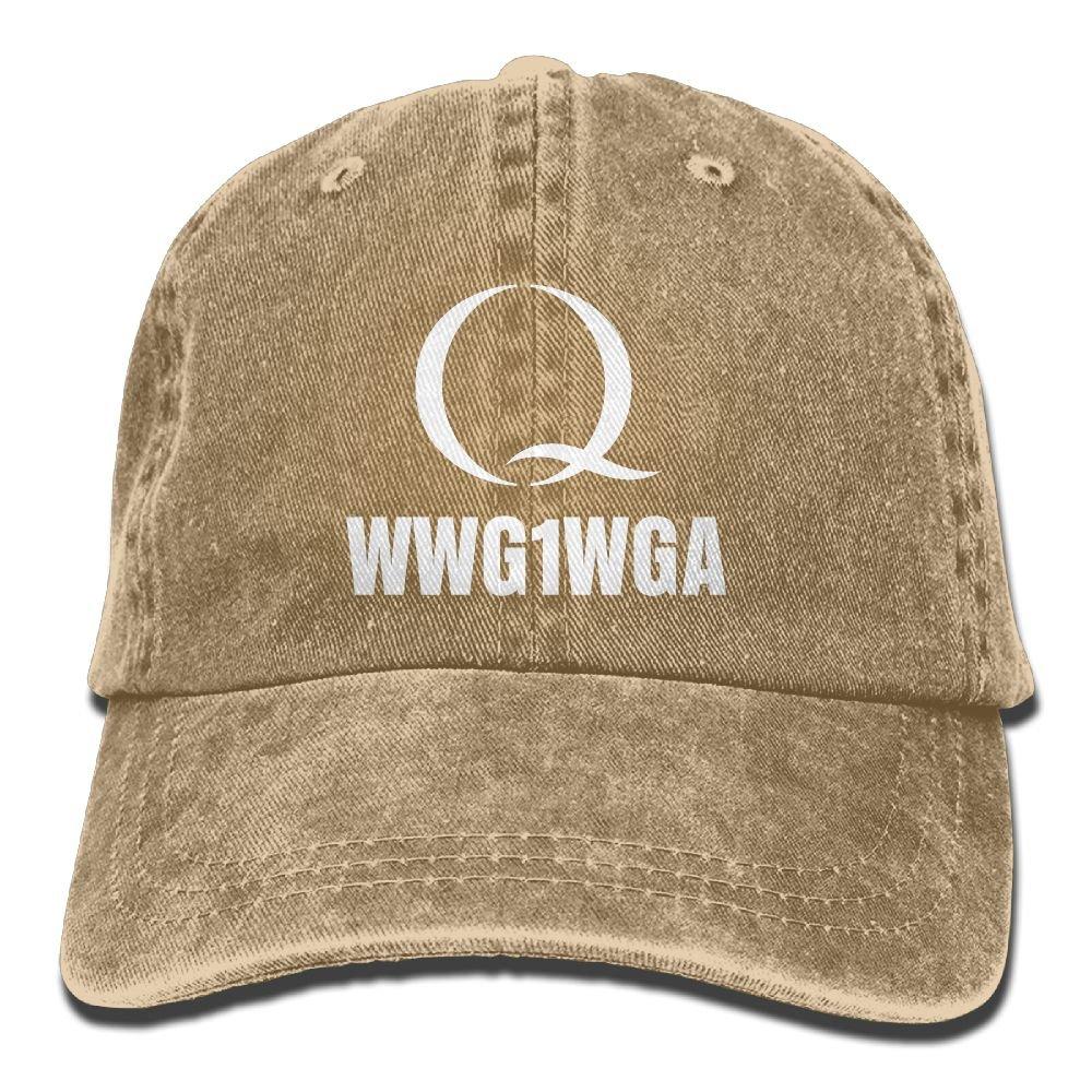 Unisex Adjustable Baseball Caps Snapback Dad Hat Qanon Where We Go One We Go All