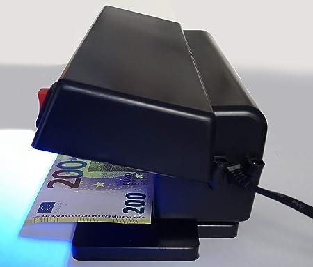 professioneller Geldscheinpr/üfer Geldscheintester Banknotentester Banknotenpr/üfer mit starker 9 Watt UV Lampe